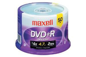 Maxell 639013 4.7GB DVD+R Branded Surface 50PK Spindle