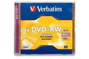 Verbatim 94520 4.7GB DVD+RW 1PK Jewel Case