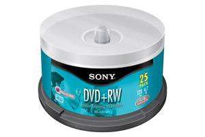 Sony 25DPW47SPM 4.7GB DVD+RW 4X 25PK Spindle
