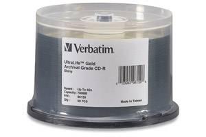 Verbatim 96159 52X 80 min 700MB Ultra Life CD-R Media 50PK Spindle