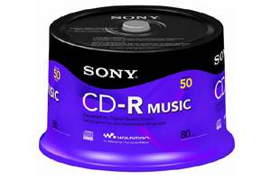 Sony 50CRM80RS 80 min 700MB CD-R Music 50PK Spindle