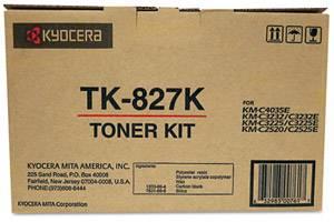 Kyocera Mita TK-827K [OEM] Genuine Black Toner Cartridge KM-C2520 C3225 C3232 C4035E