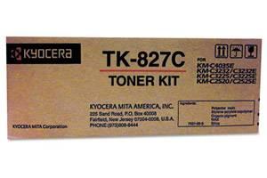 Kyocera Mita TK-827C Original Cyan Toner Cartridge KM-C2520 C3225 C3232 C4035E