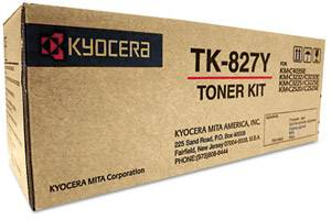 Kyocera Mita TK-827Y Original Yellow Toner Cartridge KM-C2520 C3225 C3232 C4035E