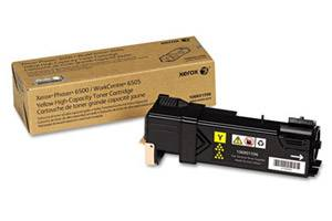 Xerox 106R01596 [OEM] Genuine High Yield Yellow Toner Cartridge for Phaser 6500 WC 6505