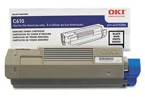 Okidata 44315304 [OEM] Genuine Black Toner Cartridge for C610 Series Printer