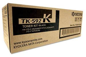 Kyocera Mita TK-592K [OEM] Genuine Black Toner Cartridge FS-C2026 C2126 C2526 C2626