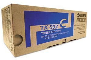 Kyocera Mita TK-592C [OEM] Genuine Cyan Toner Cartridge FS-C2026 C2126 C2526 C2626