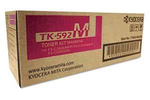 Kyocera Mita TK-592M [OEM] Genuine Magenta Toner Cartridge FS-C2026 C2126 C2526