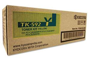 Kyocera Mita TK-592Y [OEM] Genuine Yellow Toner Cartridge FS-C2026 C2126 C2526 C2626