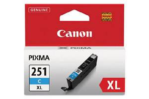 Canon CLI-251XL High Yield Cyan OEM Genuine Ink Cartridge for Pixma MG5420 MG6320 MX722