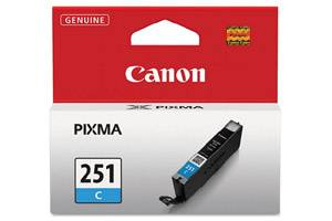 Canon CLI-251 Cyan Original Ink Cartridge for Pixma MG5420 MG6320 MX722