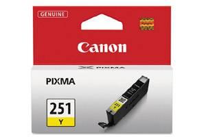 Canon CLI-251 Yellow Original Ink Cartridge for Pixma MG5420 MG6320 MX722