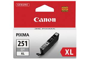 Canon CLI-251XL High Yield Gray OEM Genuine Ink Cartridge Pixma iP8720 MG7120