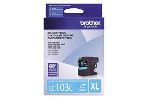 Brother LC103C OEM Genuine Cyan Ink Cartridge for MFC-J285DW J4310DW J4410DW