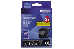 Brother LC107BK OEM Genuine Black Ink Cartridge for MFC-J4310DW J4410DW J4510DW
