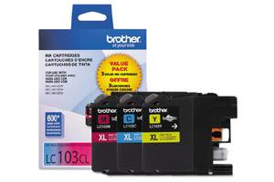 Brother LC1033PKS OEM Genuine C/Y/M Color Ink Cartridge for MFC-J285DW J4310DW J4410DW