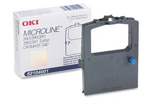 Okidata 52104001 [OEM] Genuine Black Nylon Ribbon Cartridge for Microline 380 390 391