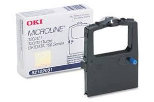 Okidata 52102001 Original Black Ribbon Cartridge for Microline 120 320 321