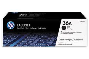 HP CB436D / 36A [OEM] Genuine Dual Pack Black Toner for LaserJet P1505