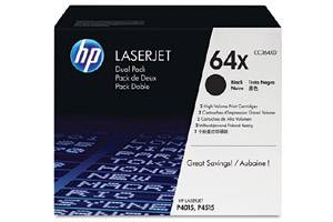 HP CC364XD / 64X [OEM] Genuine Dual Pack High Yield Black Toner