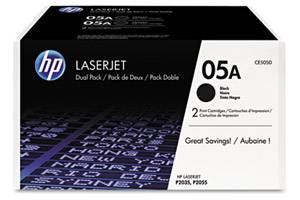 HP CE505D / 05A [OEM] Genuine Dual Pack Black Toner for LaserJet P2035