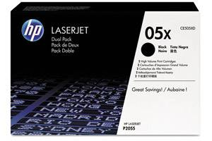 HP CE505XD / 05X [OEM] Genuine Dual Pack High Yield Black Toner