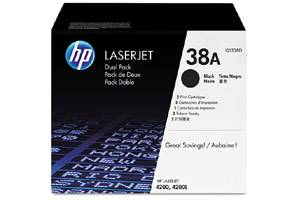 HP Q1338D / 38A [OEM] Genuine Dual Pack Black Toner for LaserJet 4200