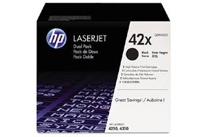 HP Q5942XD / 42X [OEM] Genuine Dual Pack High Yield Black Toner