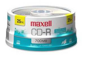 Maxell 648445 48X 80Min 700MB CD-R 25PK Spindle