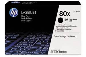 HP CF280XD / 80X [OEM] Genuine Dual Pack High Yield Toner for M425