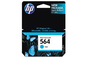 HP CB318WN (#564) OEM Genuine Cyan Ink Cartridge