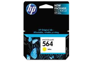 HP CB320WN (#564) OEM Genuine Yellow Ink Cartridge