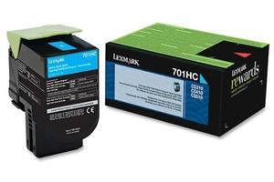 Lexmark 70C1HC0 / 701HC [OEM] Genuine High Yield Cyan Toner Cartridge for CS310 CS510