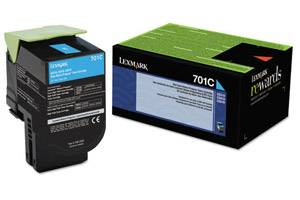 Lexmark 70C10C0 / 701C [OEM] Genuine Cyan Toner Cartridge for CS310 CS410 CS510