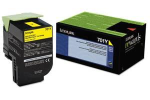 Lexmark 70C10Y0 / 701Y [OEM] Genuine Yellow Toner Cartridge for CS310 CS410 CS510