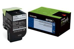 Lexmark 80C1SK0 / 801SK [OEM] Genuine Black Toner Cartridge for CX310 CX410 CX510