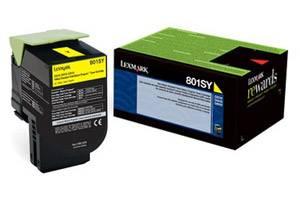 Lexmark 80C1SY0 / 801SY [OEM] Genuine Yellow Toner Cartridge for CX310 CX410 CX510
