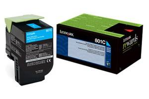 Lexmark 80C10C0 / 801C [OEM] Genuine Cyan Toner Cartridge for CX310 CX410 CX510