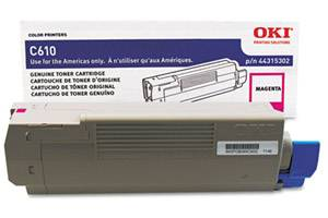 Okidata 44315302 [OEM] Genuine Magenta Toner Cartridge for C610 Series Printer