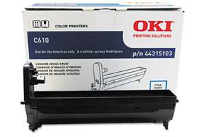 Okidata 44315103 [OEM] Genuine Cyan Drum Unit for C610 Series Printer
