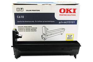 Okidata 44315101 [OEM] Genuine Yellow Drum Unit for C610 Series Printer