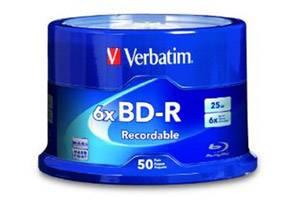 Verbatim 98397 BD-R 25GB 6X Branded 50pk Spindle