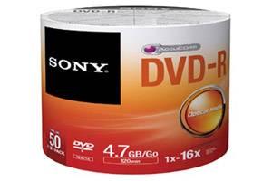 Sony 50DMR47SB 16X 120min 4.7GB DVD-R 50PK Bulk Wrap