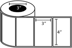 "Zebra DT Label, Paper (4"" x 3"") (3"" Core) 4 Roll Case"